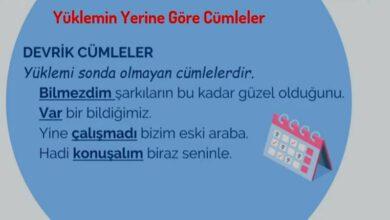 Photo of Yüklemin Yerine Göre Cümleler